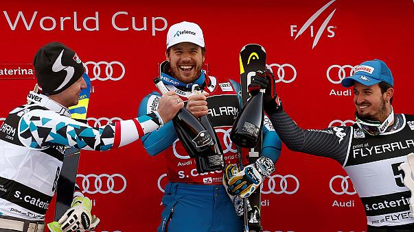 Alpine skiing: Jansrud continues perfect super-G start with Santa Caterina win