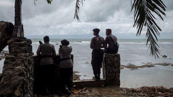 Image: Volcano-Triggered Tsunami Hits Indonesia's Sunda Strait