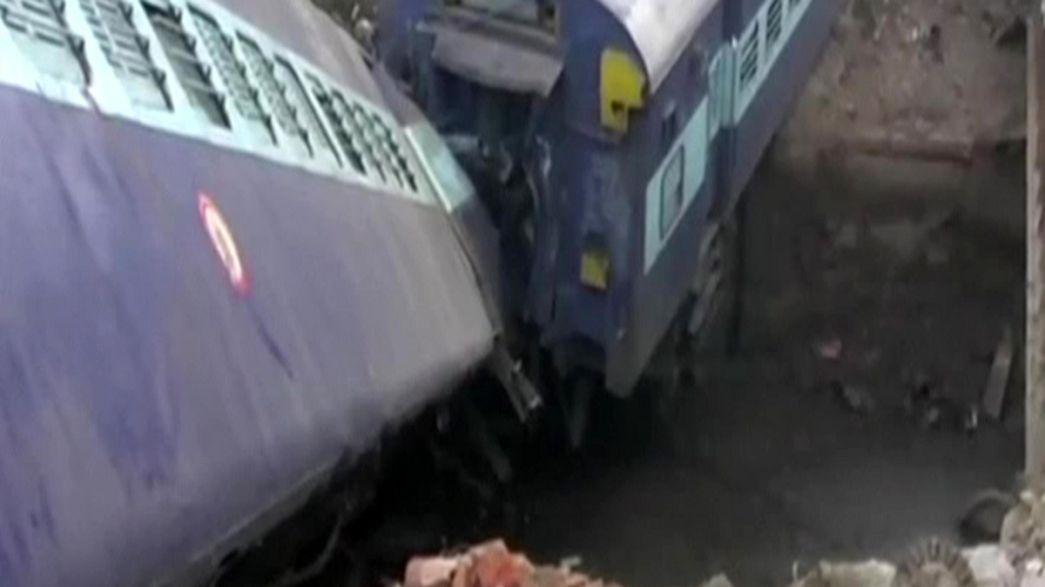 Indian train derails near Kanpur - Two dead
