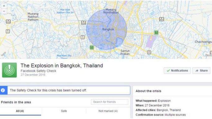 Facebook activates Safety Check over false alarm