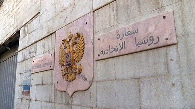 Két belövés a damaszkuszi orosz követségen