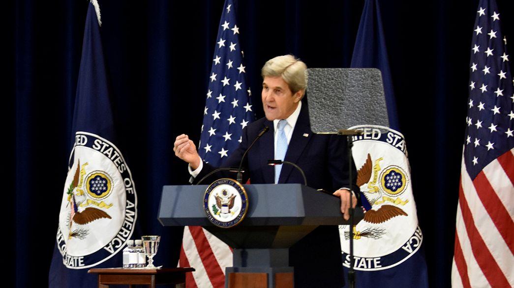 """Israël/Palestine : """"pas de paix possible"""" sans deux Etats (John Kerry)"""