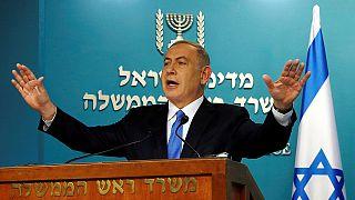 """""""خيبة عميقة"""" لدى نتانياهو من مضمون خطاب كيري عن حل الدولتيْن"""