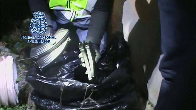 Madrid'te toprağa gömülü Kalaşnikof mermileri bulundu