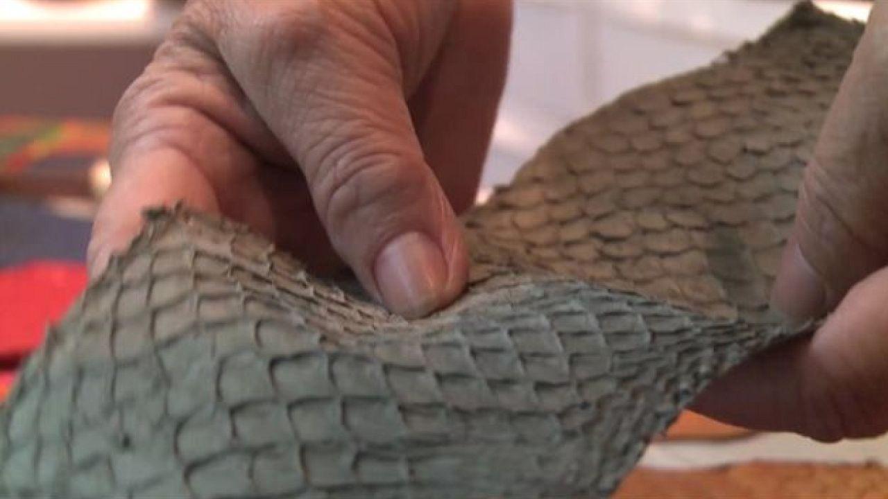 Du cuir de peau de poisson