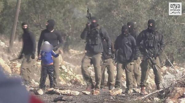 کودک فلسطینی در بازداشت ارتش اسرائیل