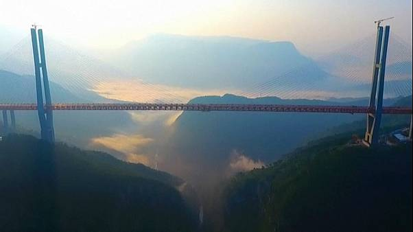 World's 'highest' bridge opens to traffic in China