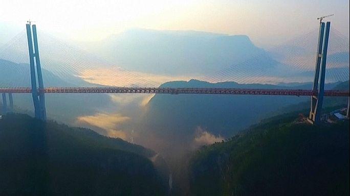 Lélegzetelállító híd Kínában