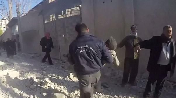 Airstrike targets Syrian school hours before ceasefire