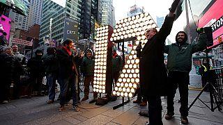 Avant le Nouvel An, New York organise un test de lâcher de confettis à Times Square