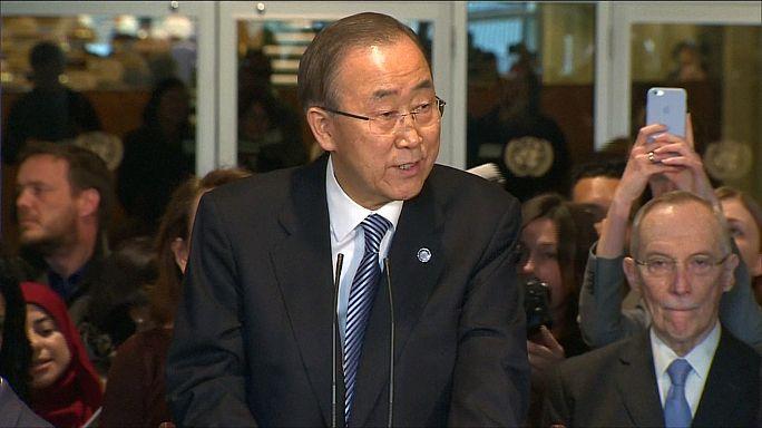 Ban Ki Mun elbúcsúzott munkatársaitól