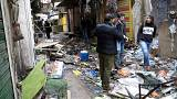 Deadly double bombing at Baghdad market