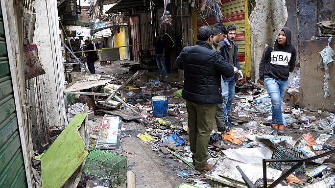 Terrortámadás egy bagdadi piacon