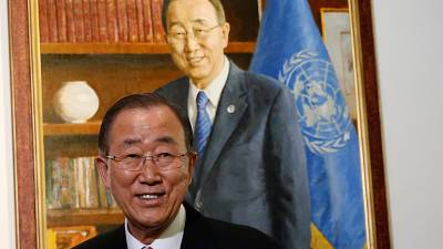 Ban Ki-moon bids farewell to U.N during speech