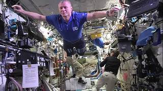 ISS crew rises to 'The Mannequin Challenge'