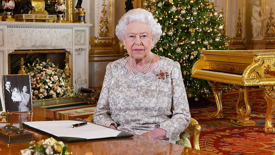 Image: Queen Elizabeth II Delivers Her Christmas Speech