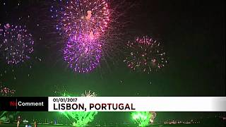 New Year in Portugal: Huge crowds celebrate