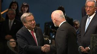 UN's new chief Antonio Guterres in appeal to 'put peace first'