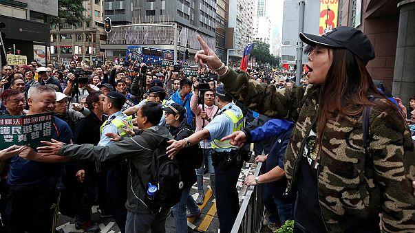 Tüntetéssel indult az újév Hongkongban