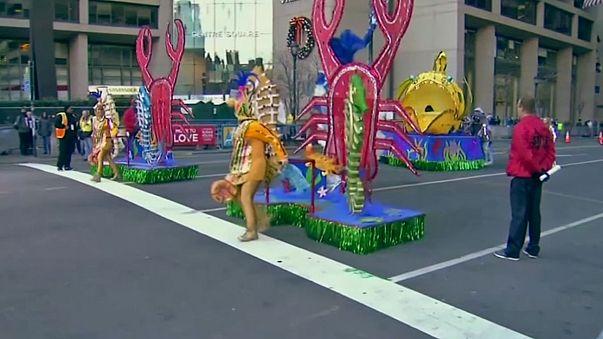 Karnevals-Parade am Neujahrstag: Mummer's Parade in Philadelphia
