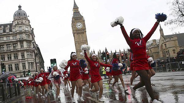 London's New Year's Day parade shrugs off rain