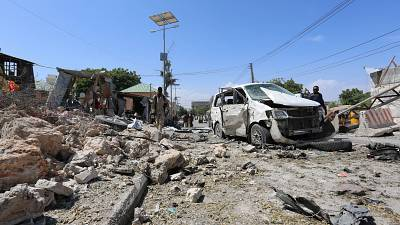 Three killed in car bomb attack on peacekeepers' Somali HQ