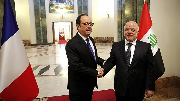 En Irak, Hollande réaffirme son engagement contre l'EI