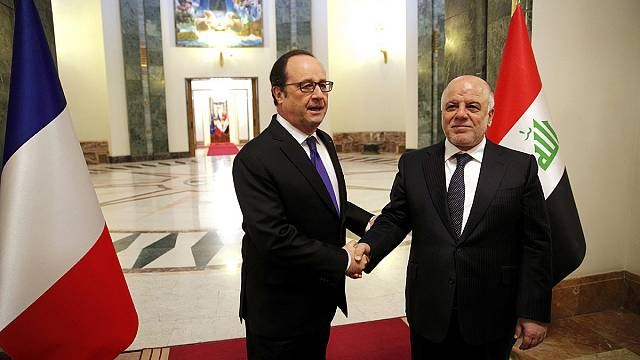 French president reaffirms support for anti-ISIL mission in Iraq with New Year visit