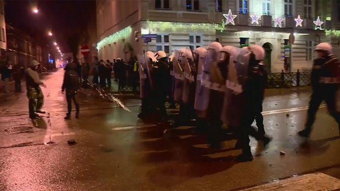 Idegenellenes zavargás egy lengyel városban