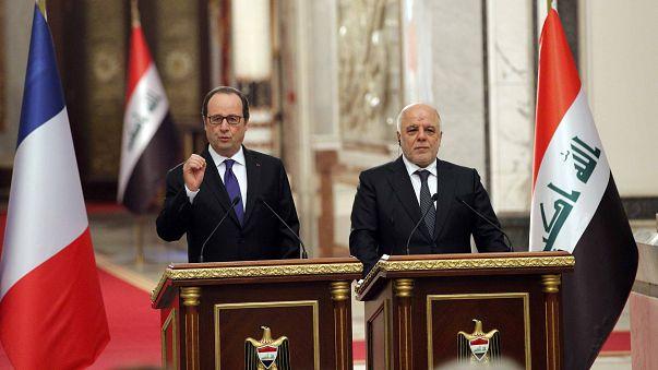 Hollande visita Irak para apoyar la lucha contra el Dáesh y la ofensiva en Mosul