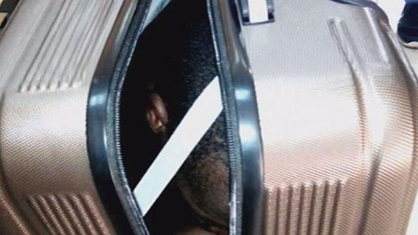 Mann im Koffer - junge Marokkanerin festgenommen
