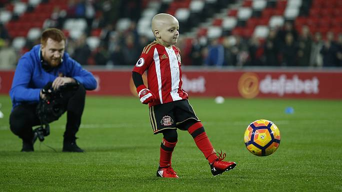 Cancer-hit boy, five, 'over-the-moon' after winning football gong