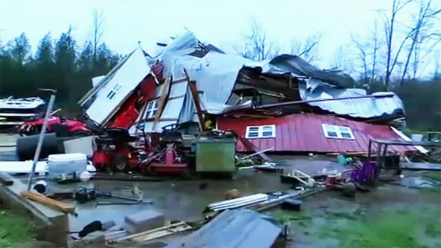 Deaths reported as southern US states hit by heavy storm