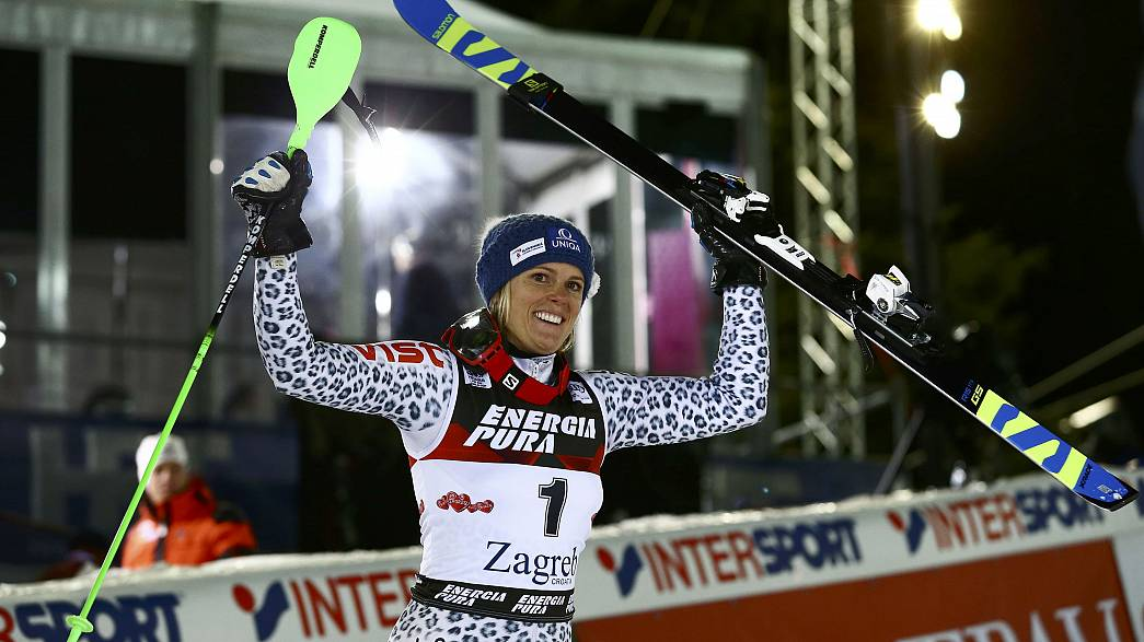 Alpine skiing: Velez-Zuzulova returns to winners circle as Shiffrin fails to finish