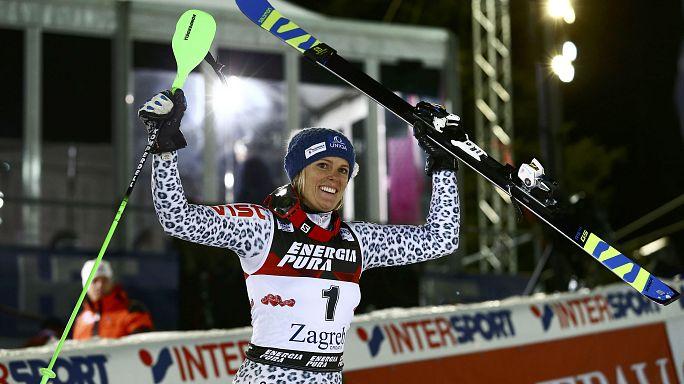 Velez Zuzulova gewinnt in Zagreb - Shiffrin beendet Siegesserie