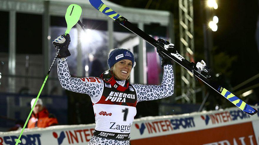 """""""فيرونيكا زوزلوفا"""" تتربع على عرش سباق التزلج الألبي"""
