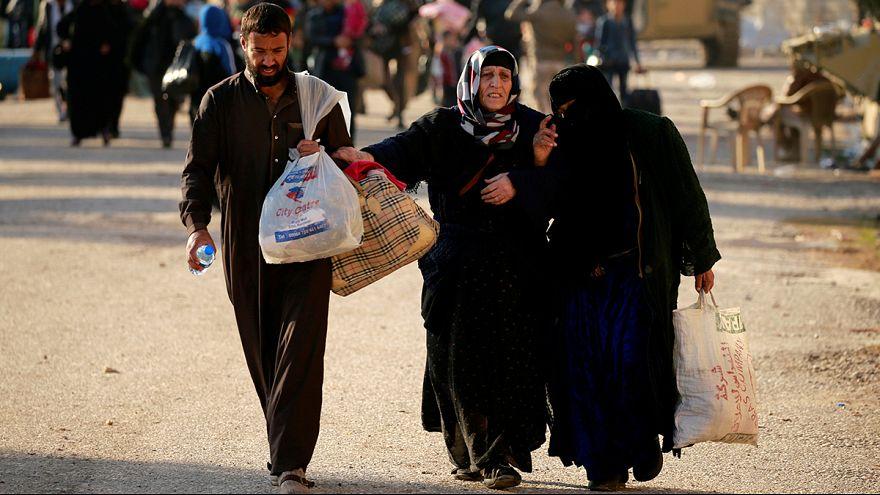 Se incrementa el éxodo de civiles debido a los combates en Mosul