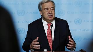 First day at the office for new UN chief Antonio Guterres