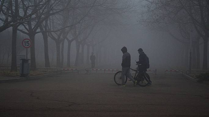 """China pollution alerts: """"My baby is not allowed outside these days"""""""