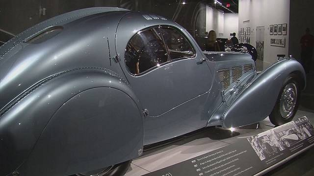 Bugatti exhibition at the Peterson Automotive Museum in Los Angeles
