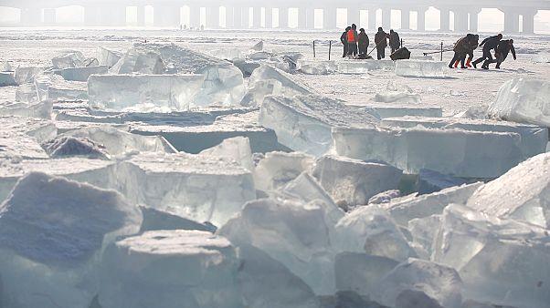Ледяной город в китайском Харбине