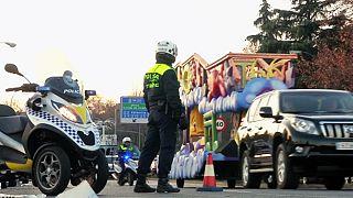 Трех царей-волхвов в Испании встречают при усиленных мерах безопасности