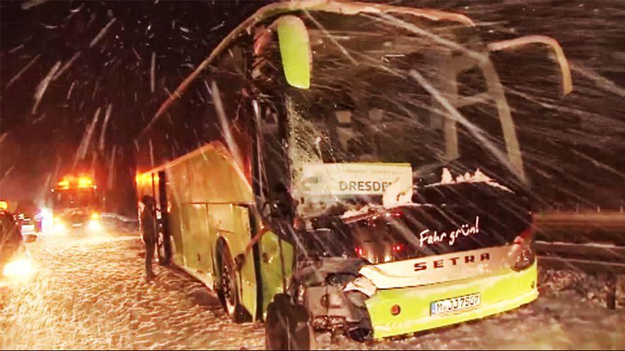 Tempête de neige et inondations en Allemagne