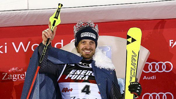 الإيطالي مانفريد مولغ يفوز بسباق التزلج المتعرج بزغرب