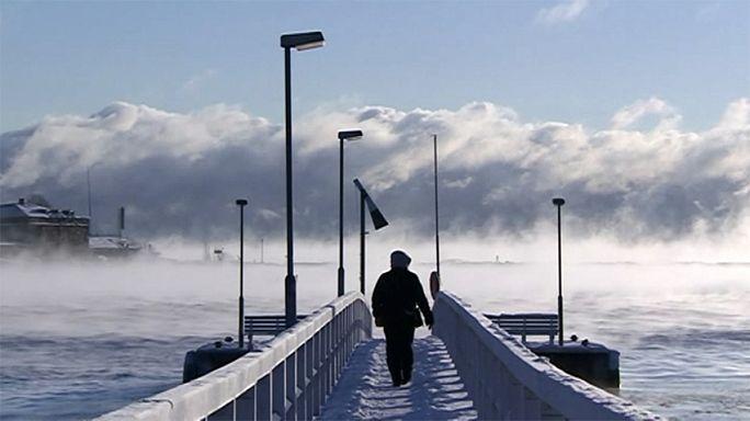 Зима в Европе: снегопады и сильные морозы