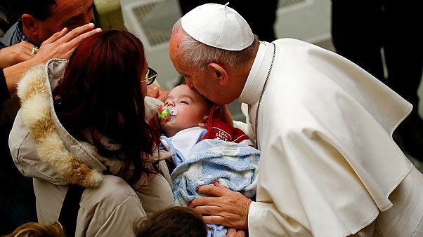 Ferenc pápa vigasztalt, de nem prédikált