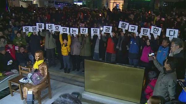مجسمه «زن آسایشگر» سفیر و سرکنسول ژاپن را از کره جنوبی به خانه کشاند