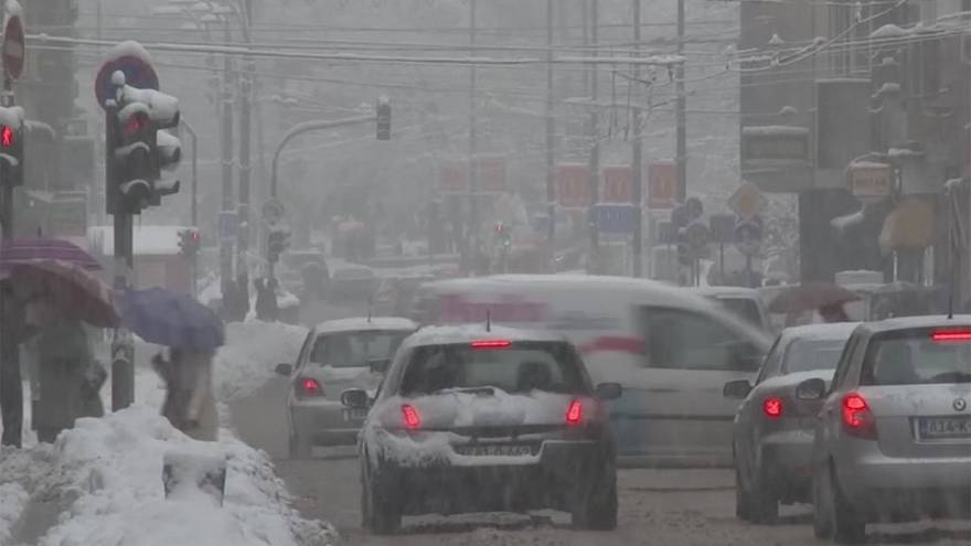 Heavy snowfall  in Bosnia and Kosovo