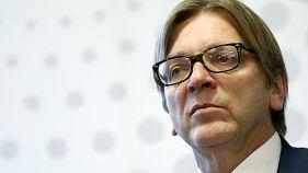 El ex primer ministro belga Guy Verhofstadt, candidato oficial del Grupo Liberal a presidir la Eurocámara