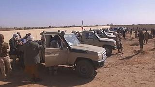 Former Tuareg rebels join gov't troops in a joint patrol in Northern Mali